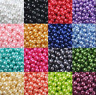 Wholesale Glass Pearl Round Spacer Loose Beads Finding 4/6/8/10/12mm 21 Colors