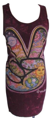 Boho Summer Yoga Top Vest Dress Cotton Hippy M Peace Colourful Festival Ethnic