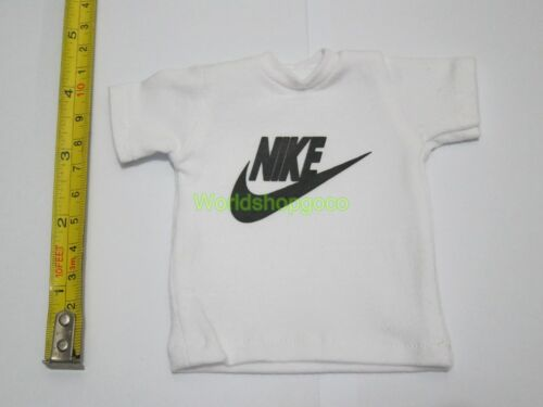 """1//6 Scale Tee Black Short Sleeves T-Shirt Sport For 12/"""" Action Figure #A"""