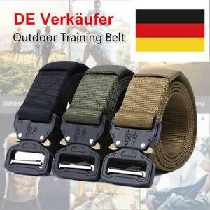 Tactical Gürtel Nylon Schwerlast Gürtel mit Schnellverschluss Metallschnalle DE