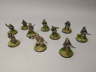 Metal Painted /& Based R3 28mm Bolt Action Chain Of Command German Heer HQ