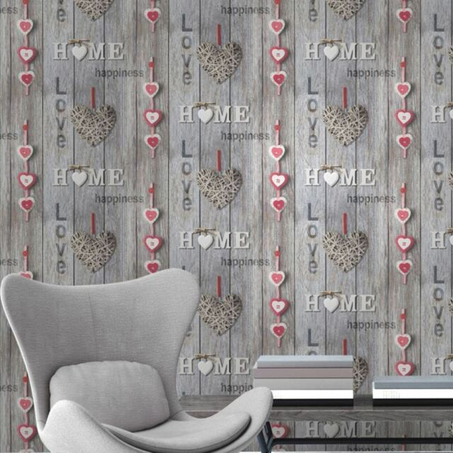 FINE DECOR LOVE YOUR HOME WALLPAPER - RED FD41718 - FEATURE WALL NEW