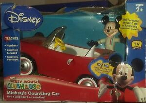 Disney-Mickey-Mouse-ClubHouse-Mickey-039-s-Counting-Car-lt-Retired-gt