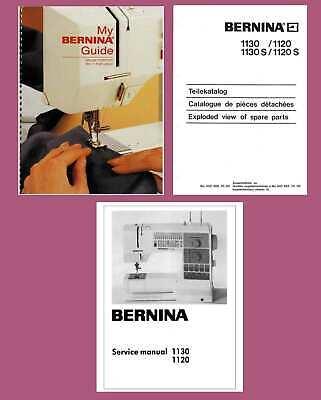 Bernina Activa 125 135 145 Service /& Parts Workbook or Instruction manual on CD