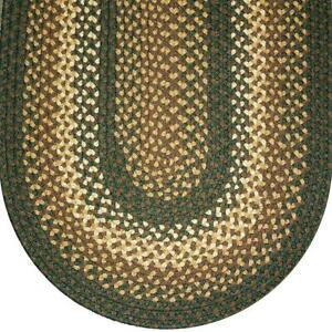 Details About Sage Green Basket Weave Braided Area Rugs By Colonial Rug Many Sizes 827