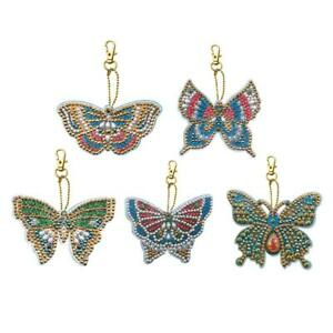 5pcs-DIY-Special-Shaped-Full-Drill-Butterfly-Diamond-Painting-Keychain-Kits-Gift