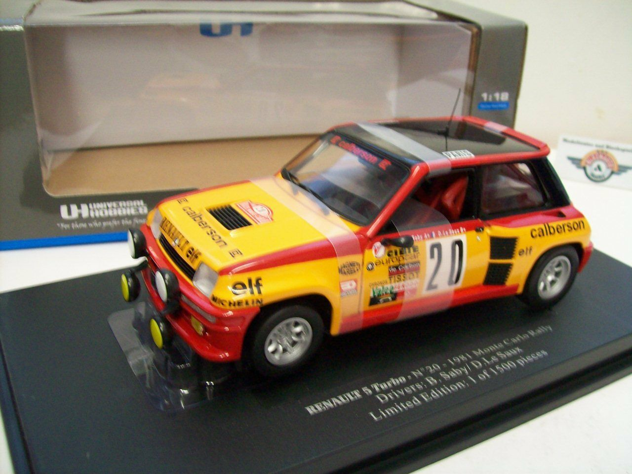 RENAULT r5 Turbo  20  Rally Monte Carlo  1981, Universal Hobbies 1 18, OVP