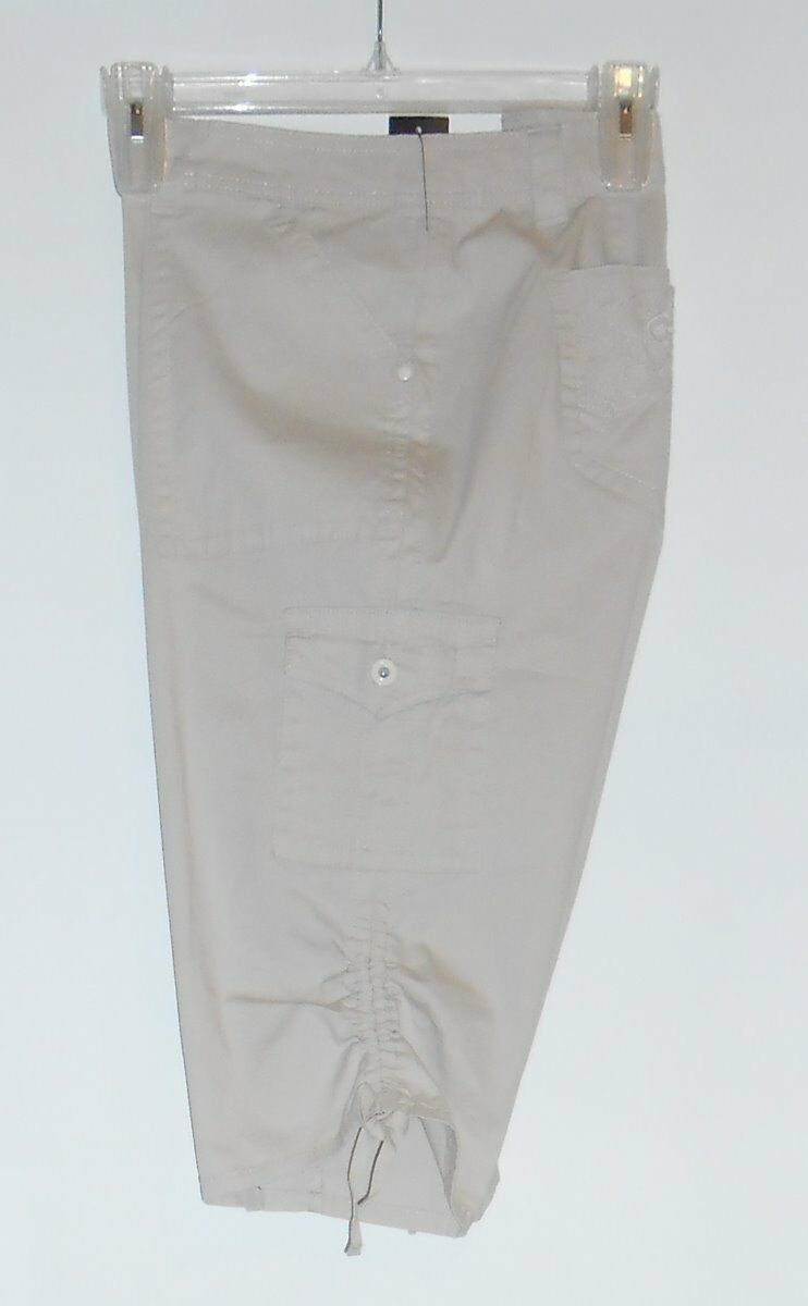 Jones New York Woman Plus Size Stretch Capri Pants Honey Oat 16W NWT