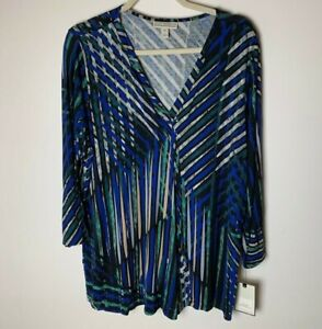 Dana Buchman NEW Women's Top Size XL V-Neck 3/4 Sleeves Casual Work Career