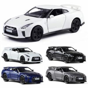 Nissan-GTR-R35-Coche-Deportivo-Coche-Modelo-1-36-Diecast-Metal-Regalo-Juguete-Ninos-del-vehiculo