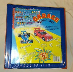 1984-Vintage-Tara-Toy-Corp-72-Car-Garage-Carry-Case-Hot-Wheels-Matchbox