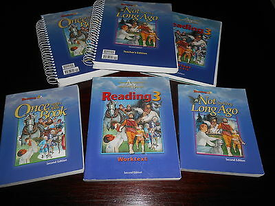 Bob Jones Reading 3A & 3 B homeschooingl Student readers, workbook and te 6 LOT