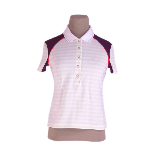 Prada Polo shirt Weiß Grün Woman Authentic Used I174