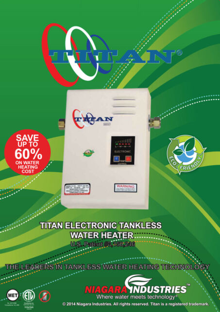 titan n120 scr2 whole house tankless water heater, 11.8kw for sale