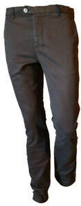 Pantalone-Chino-Uomo-Tasca-Laterale-Casual-Elegante-Marrone-Cotone-HAJIME-44-45