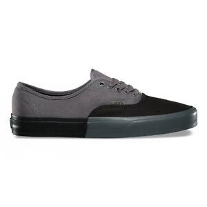 43fd302c6bdc Vans Authentic (Blocked) Black Pewter Men's Skate Shoes Size 8 | eBay