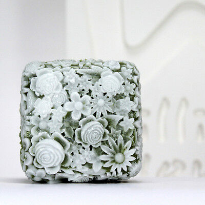 Flower C - Handmade Silicone Soap Mold Candle Mould Diy Craft Molds