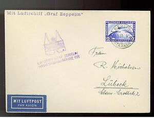 1931 Berlin Deutschland Graf Zeppelin Postkarte Abdeckung Ostsee Flight Lz 127