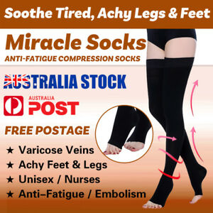 0b862114a5 Image is loading Flight-compression-socks-Varicose-Veins-Stockings -Support-Thigh-