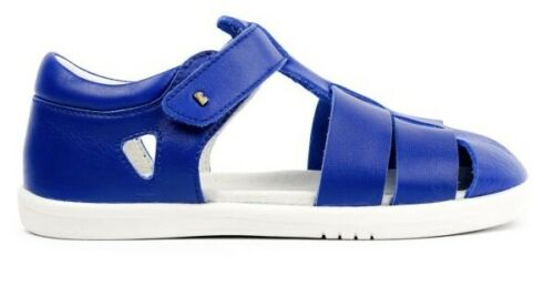 Quick dry water friendly leather sandals Bobux Kids Tidal sandal in Blueberry