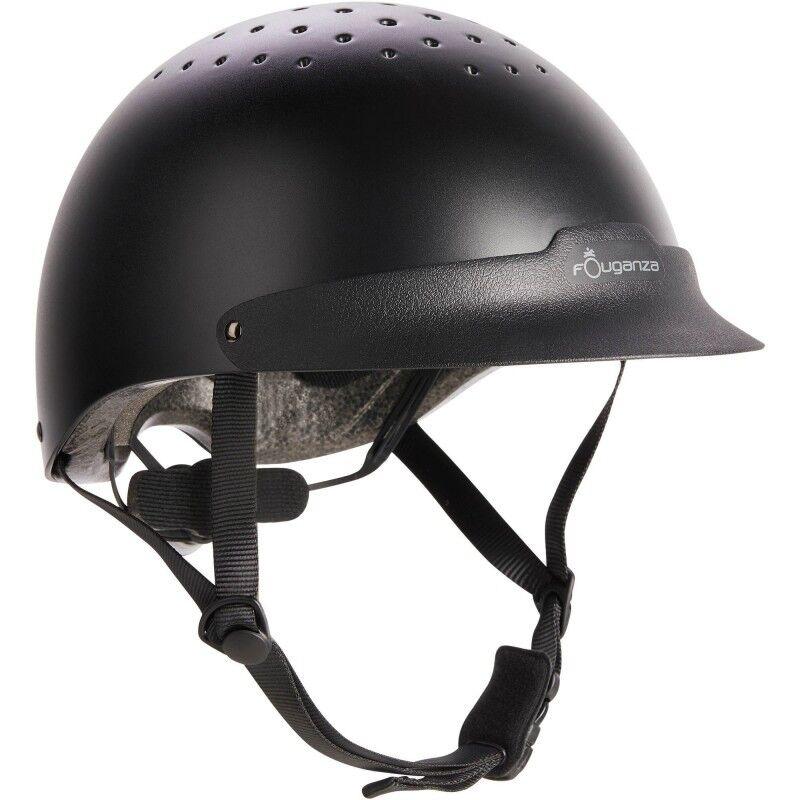 FOUGANZA Horse Riding Hat Helmet Headwear Equestrian Predective Safety Predect