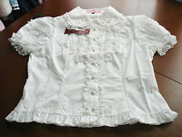 Bodyline Sweet Gothic Lolita Pearl Collar Short Sleeve Blouse Size M Or 2l