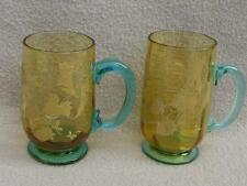 PAIR OF ANTIQUE CONTINENTAL BOHEMIAN GLASS MOSER HAND ENAMELLED GLASSES