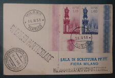FDC -  CARD 2 VAL. MADONNA LOURDESW - 1958