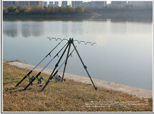 Portable Telescopic aluminium alloy stable tripod fishing rod holder max 6 rods