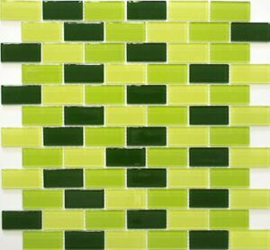 Glasmosaik Blau Grün 4mm Mosaik Dusche Fliesen Bad Sanitär Glasfliesen Küche WC