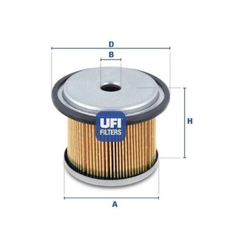 Fits Fiat Scudo 220L 1.9 D Genuine UFI Fuel Filter