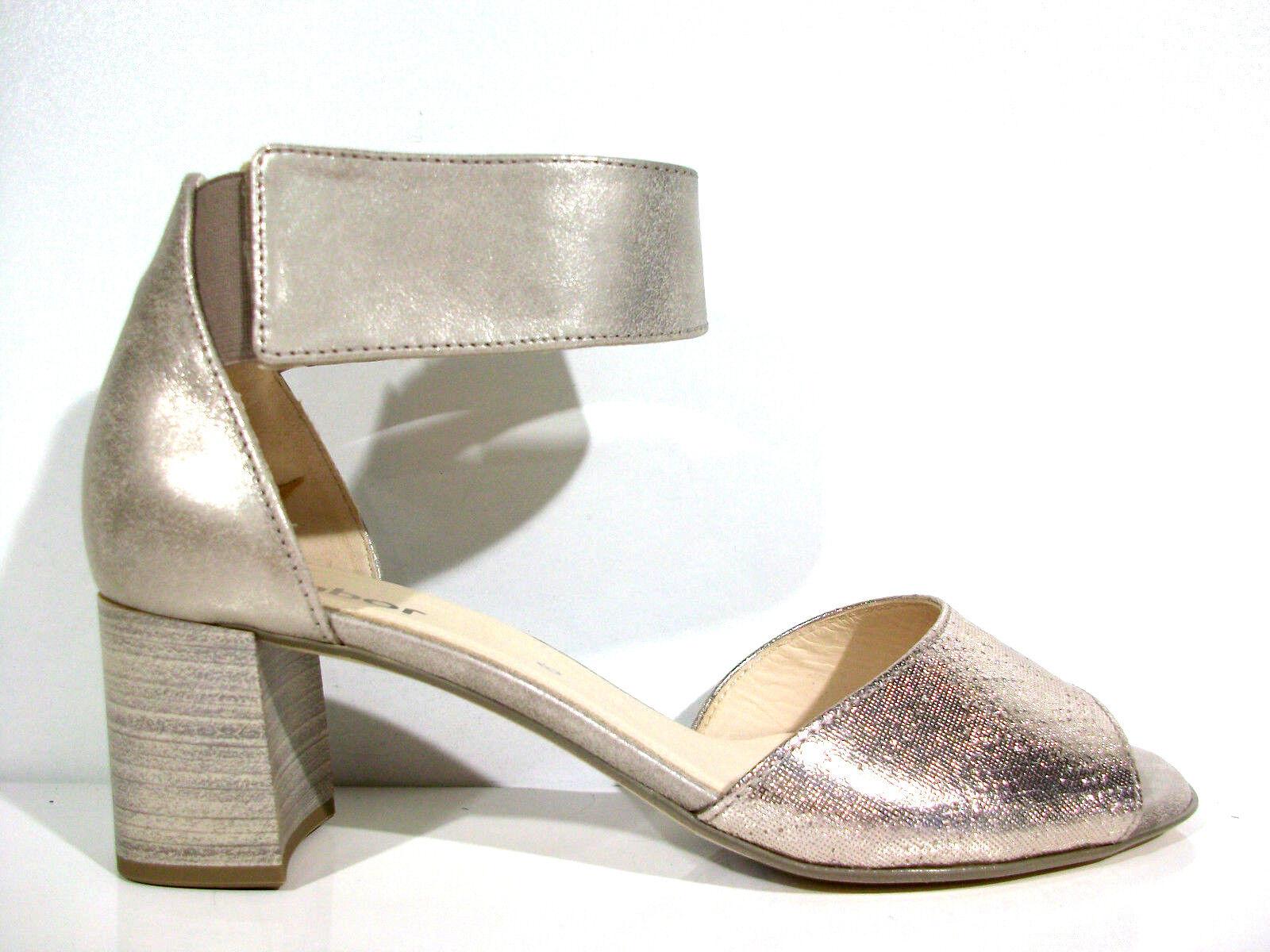 Gabor Sandale Sandalette 65.800.68 Farbe metallic  Größe 38-40 neu