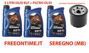 KIT-TAGLIANDO-3LT-OLIO-ELF-SUPERBIKE-10W-40-FILTRO-OLIO-HONDA-CB-1000-R-ABS-2010