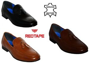 NEW-MENS-RED-TAPE-LEATHER-SMART-SLIP-ON-DRIVING-TASSEL-LOAFERS-CASUAL-SHOES-7-12