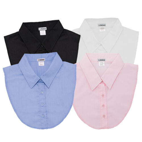 Pink Blue White IGotCollared Set of 4 Dickey Collars in Black