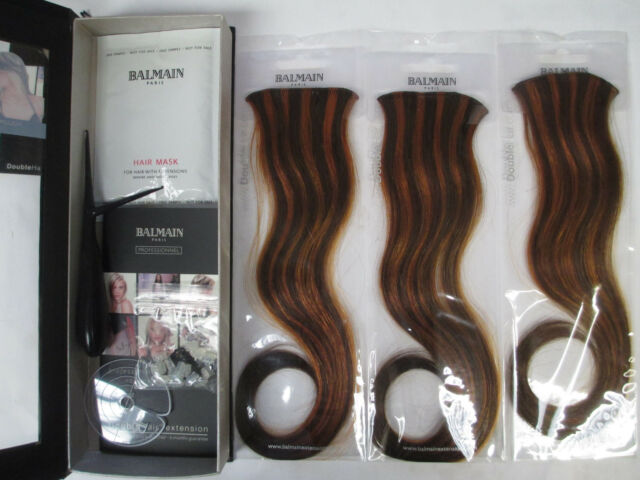 5 x Balmain Paris Double Hair Volume Colour 30cm extension 3pcs Soft Copper 4/29