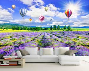 3D Balloons Lavender 7 Wall Paper Murals Wall Print Wall Wallpaper Mural AU Kyra