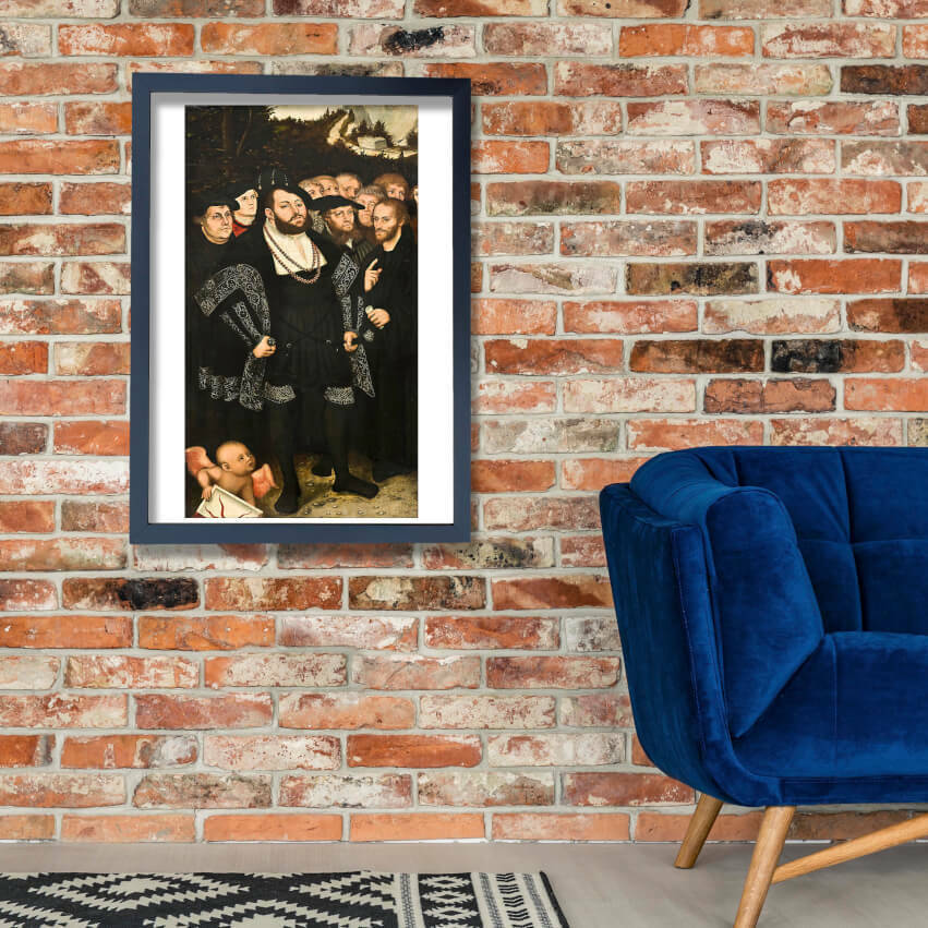 Lucas Younger - Martin Luther & Wittenberg Reformers Wall Art Poster Print