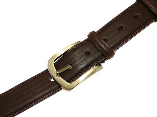 Mens Genuine Brown Leather Belt In Gift Box All Sizes