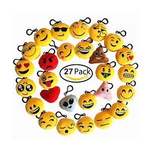Details About Time Killer Emoji Keychain 27 Pack Birthday Party Supplies Favors By Gift For
