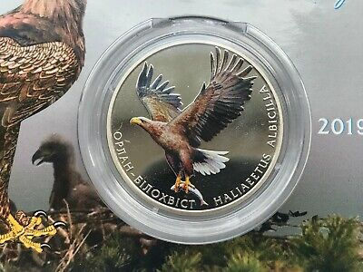Nickel coin in Buklet Ukraine 2 griven Trencher Bіlohvіst Haliaeetus Albicilla