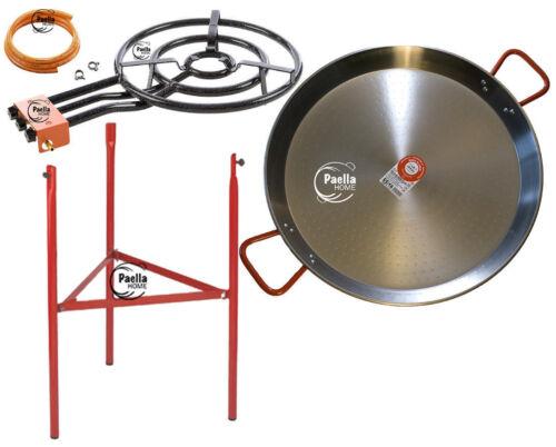 65cm Original Paella Pan Set Stainless Steel Spoon 55cm Gas Burner Lid