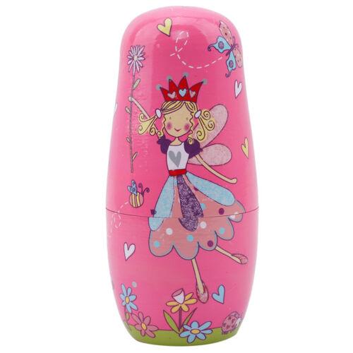 5 Nesting Fairy Girl Russian Dolls Matryoshka Toys Wooden Dolls Set L