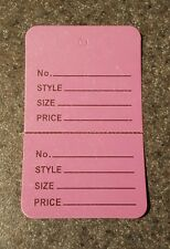 500 Lavender 275x175 Large Perforated Unstrung Price Consignment Store Tags