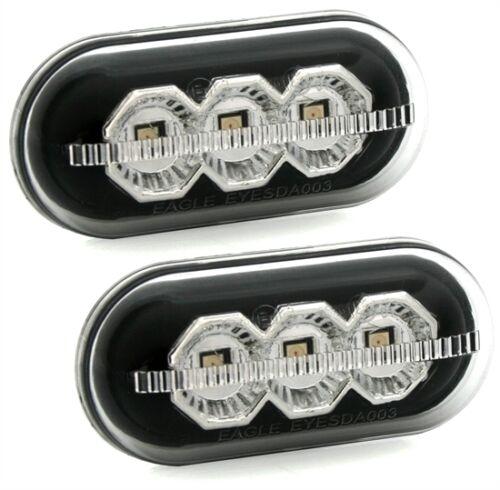 2 REPETITEURS LATERAUX BLACK CHROME A LED RENAULT KANGOO 1.5 dCi