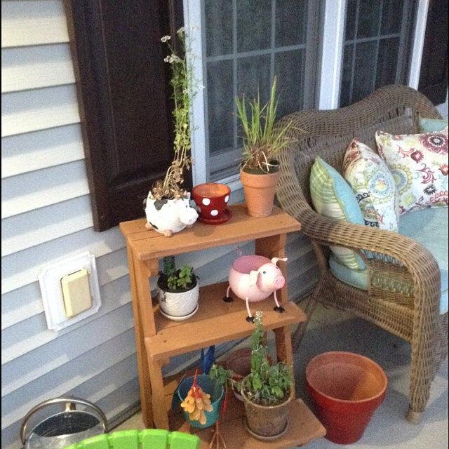 Plant Stand Outdoor 3 Tier Plant Rack Display Shelf Cedar
