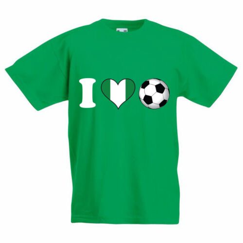I LOVE FOOTBALL-Nigeria Nouveauté Enfants T-Shirt à thème sport Nigéria