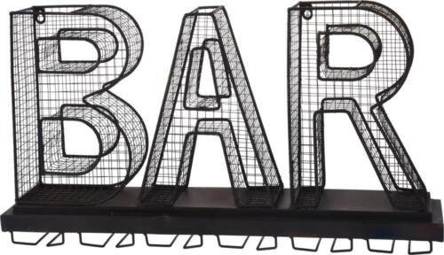 DKB Glashalter Bar Weinglashalter Metall Regal 65,5 x 36 x 13 cm Deko Vintage