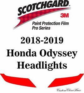 3M Scotchgard Paint Protection Film Pro Series Clear Bra 2018 2019 Honda Odyssey