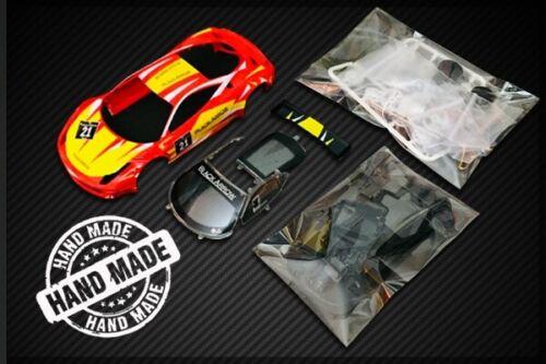 Black Arrow Red Ferrari 458 Italia GT3 1//32 Scale Slot Car Kit KITW
